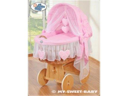 Proutěný maxi koš pro miminko My Sweet Baby SRDÍČKA > varianta 58962-122 2022