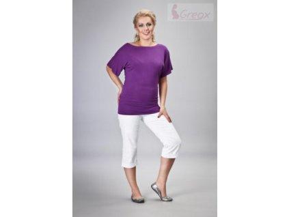 Elegantní těhotenské 3/4 kalhoty DENIM - bílá 2020