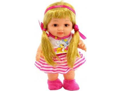 Panenka malá s culíky 24cm kloubová tvrdé tělíčko v sáčku