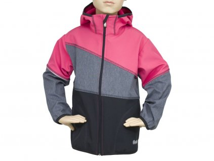 Softshell bunda Fantom BUN 0602 černo melír korálová 2020