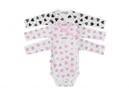 Kojenecké body Baby Service 182150 - růžová a hnědá 2020