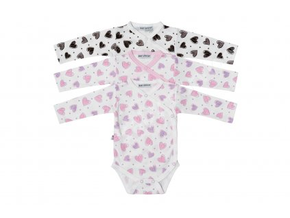 Kojenecké body Baby Service 182150 - růžová a hnědá 2021