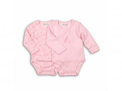 27514 body kojenecke bavlnene 2pack baby ruzova
