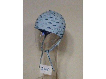 Kojenecká jarní čepice Baby AJ B441 modrá 2021