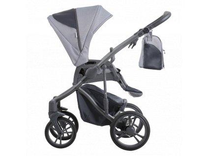 Kombinovaný kočárek Bebetto Bresso Grey 24 2020