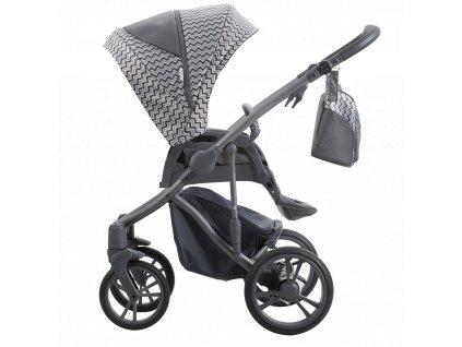 Kombinovaný kočárek Bebetto Bresso Grey 25 2020