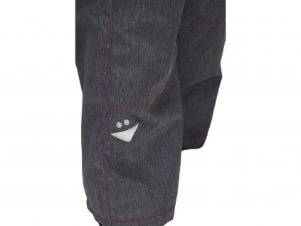 Dětské kalhoty Fantom zimní softshell slim - černá, šedá a růžová 2020