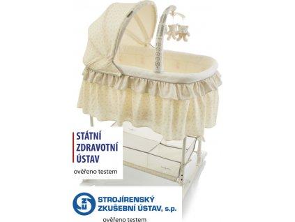 Dětská kolébka Babypoint Kolébka Regina yellow 2020