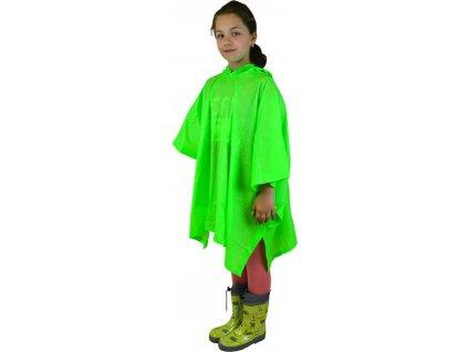 poncho PVC neonová, Pidilidi, PL0066, zelená