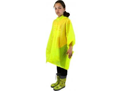 poncho PVC neonová, Pidilidi, PL0066, žlutá