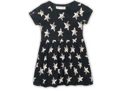 Šaty dívčí bavlněné, Minoti, 2KDRESS27, černá