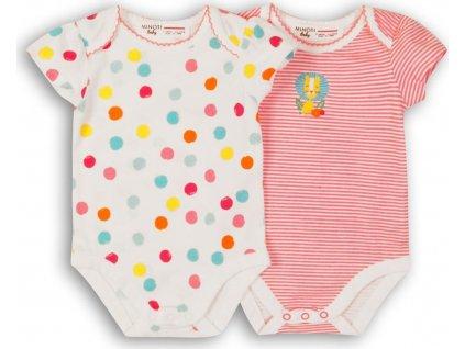Body kojenecké 2pack, Minoti, Lullaby 7, holka