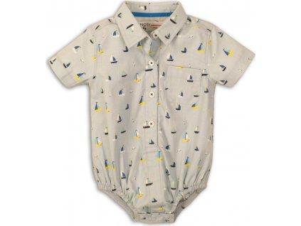 Body kojenecké s límečkem, Minoti, Seagull 2, světle modrá