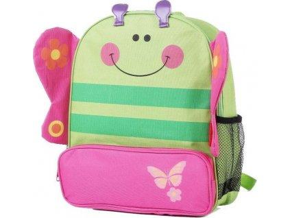 batoh dětský motýl, Pidilidi, 6047, zelená