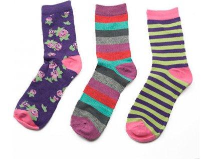 ponožky dívčí, 3pack, Pidilidi, PD0124, holka