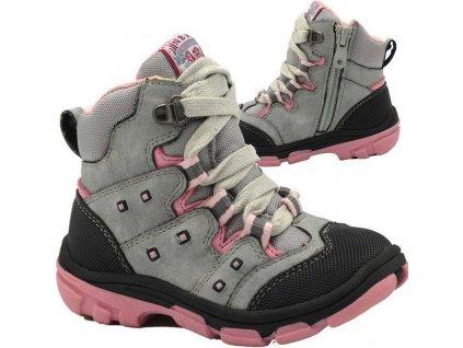boty dětské zimní, Bugga, B00142-09, šedá