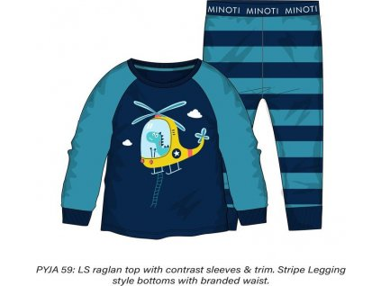 Pyžamo chlapecké , Minoti, PYJA 59, modrá