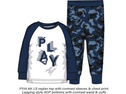 Pyžamo chlapecké , Minoti, PYJA 69, modrá