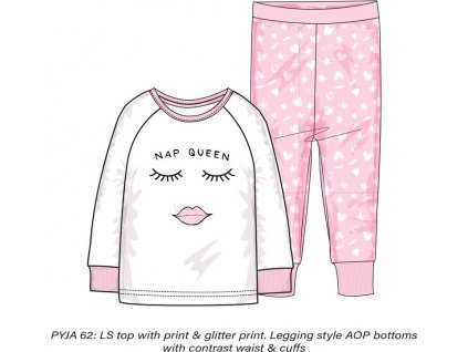 Pyžamo dívčí, Minoti, PYJA 62, růžová