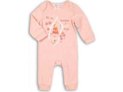 Overal kojenecký bavlněný, Minoti, PARK 5, růžová