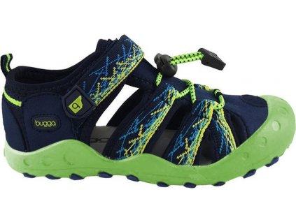 sandály sportovní OUTDOOR, Bugga, B00156-19, zelená