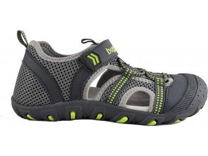 sandály sportovní OUTDOOR, Bugga, B00157-09, šedá