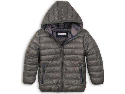 Bunda chlapecká zimní Puffa nylonová, Minoti, NINETY 9, šedá