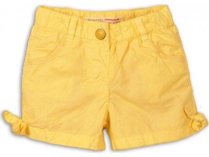 Kraťasy dívčí bavlněné, Minoti, 2SHORT 4, žlutá