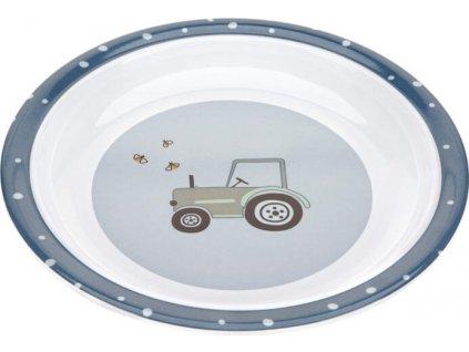 Lässig 4babies Plate Melamine/Silicone Adventure tractor