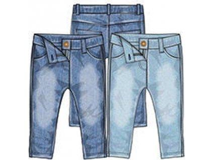Kalhoty džínové dívčí s elastenem, Minoti, riviera 9, tmavě modrá