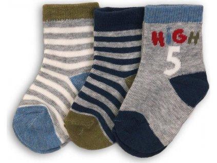 Ponožky chlapecké 3pack, Minoti, WHEELIE 12, kluk