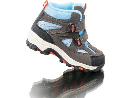 boty zimní 2 pásky, nepromokavá membrána, Bugga, B00126-04, modrá