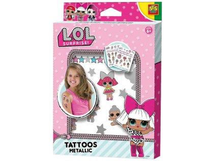SES CREATIVE L.O.L. Surprise! Dětské metalické tetování holčičí