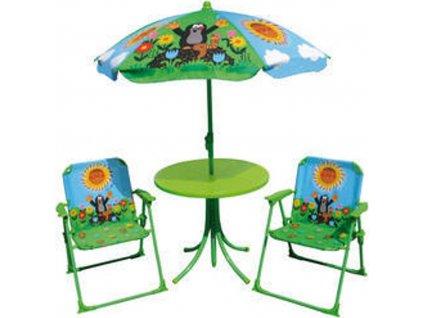 Zahradní set Krtek židle + stolek +  deštník, WIKY, 170401