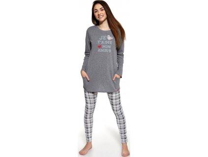 Dívčí pyžamo Cornette dlouhý rukáv 968