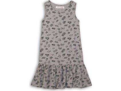 Šaty dívčí, Minoti, KGB DRESS 13, šedá