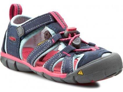 Dětské sandály SEACAMP II CNX MidnightNavy/Corydalis Blue, Keen, 1012553, tmavě modrá