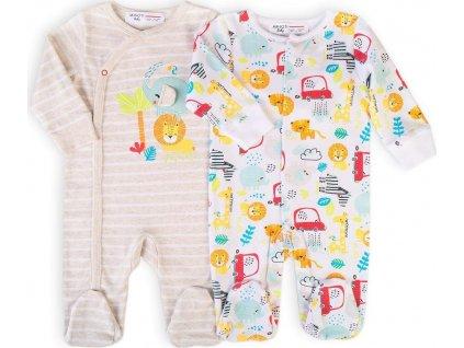 Oveal kojenecký 2pack, Minoti, Car 9, bílá