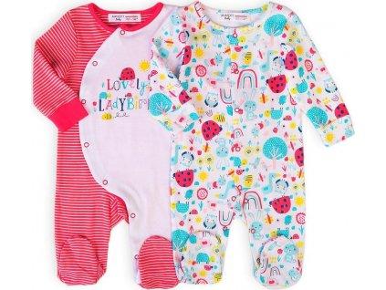 Oveal kojenecký 2pack, Minoti, Ladybug 3, holka