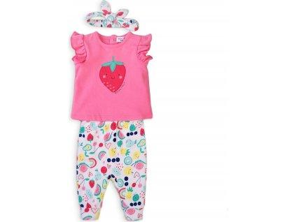 Dívčí set, tričko, legíny a čelenka, Minoti, Berry 2, růžová