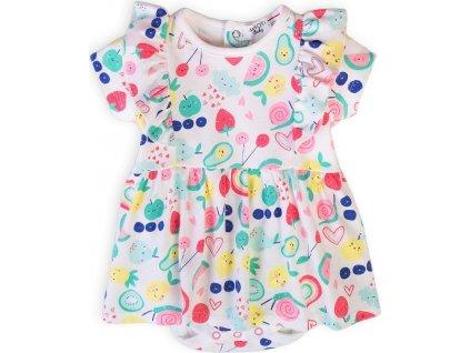 Šaty dívčí, body, Minoti, Berry 7, růžová