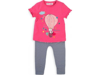 Dívčí set, tričko a legíny, Minoti, Balloon 3, růžová
