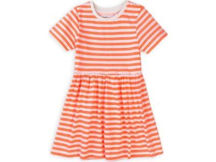 Šaty dívčí bavlněné, Minoti, 6TDRESS 4, oranžová