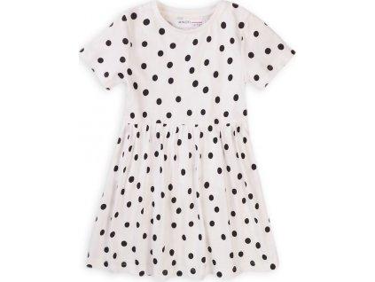 Šaty dívčí bavlněné, Minoti, 6KDRESS 7, bílá