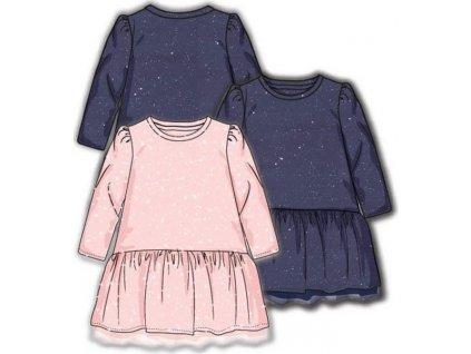 Šaty dívčí s elastenem, Minoti, ODYSSEY 4, modrá