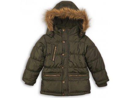 Kabát chlapecký zimní prošívaný, Minoti, MONO 3, khaki