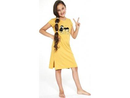 Dívčí košilka Cornette krátký rukáv 493 86-128