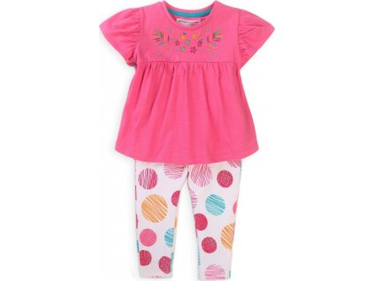 Dívčí set, tričko a legíny, Minoti, Peacock 5, růžová