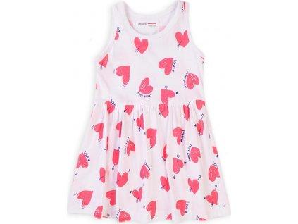 Šaty dívčí bavlněné, Minoti, 6TDRESS 9, bílá