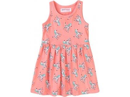 Šaty dívčí bavlněné, Minoti, 6TDRESS 10, růžová